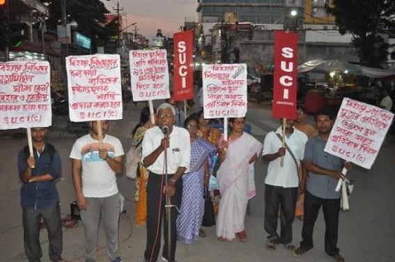 SUCI protested against increasing death tolls of Bihar children