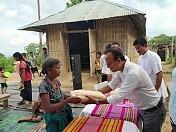 Malaria hits Tripura : Mosquito net distribution by 'Anik' social organization