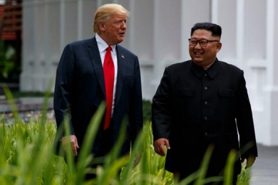 Trump briefly steps into N.Korea, meets Kim