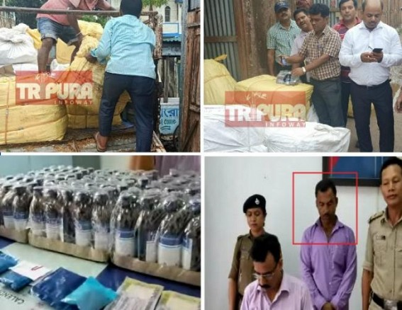 Tripura's organized Narcotics smuggling kingpins dodge arrests under Political cover : Police only arresting petty drug peddlers, regular raids yet to unearth kingpins