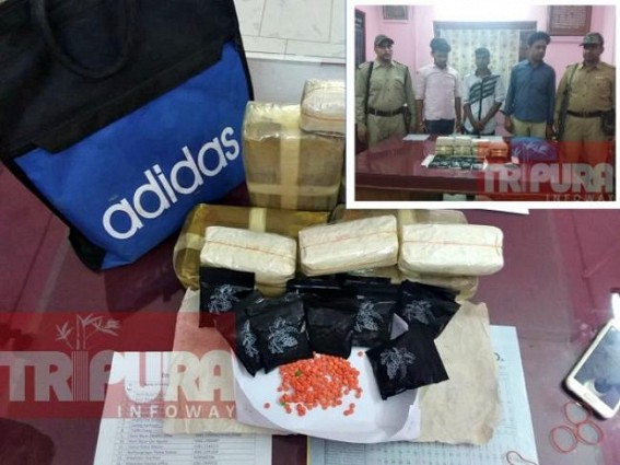 Tripura's young generation under threat of 'Yaba Monster' : Ranir Bazar Police seized contraband items worth Rs. 40 lakhs, 3 arrested
