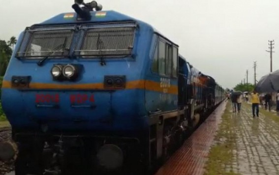 Silchar-Agartala passenger train blocked in protest at Panisagar