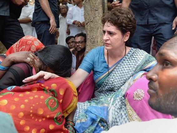 Priyanka ends dharna, to return to Delhi via Varanasi