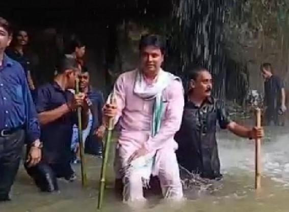 CM visits Buddha Falls at Unakoti