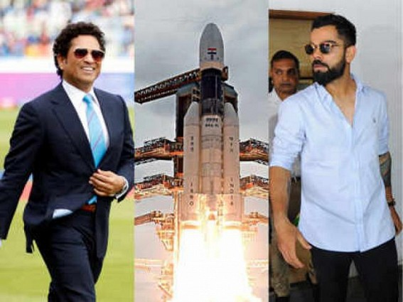 Kohli & Co. congratulate ISRO on Chandrayaan-2 launch