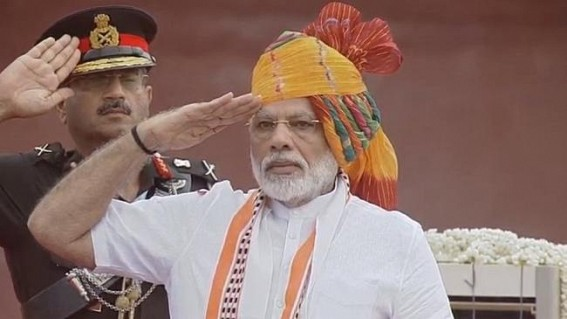 PM unfurls tricolour, addresses nation on I-Day