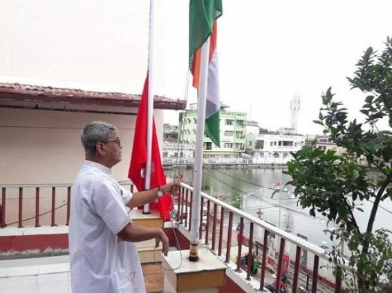 I-Day : Bijan Dhar hoisted national flag at CPI-M headquarter