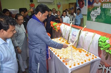 CM pays tribute to Atal Bihari Vajpayee on his death anniversary. TIWN Pic Aug 16