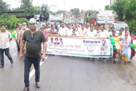 Congress continues Election campaigning for Badharghat By-Election candidate Ratan Das