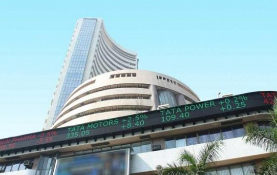 Sensex up 97 points, Nifty above 11,000