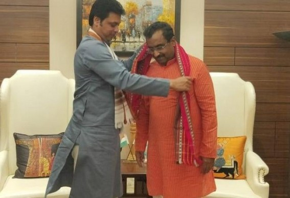 CM Biplab Deb met Ram Madhav, J P Nadda at New Delhi