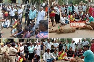 'Kuruskshetra' in Tripura By-Election ! 5 injured : CPI-M, Congress blocked road demanding arrests of BJP MLA and activists, BJP demands arrests of CPI-M, Congress road-blockers