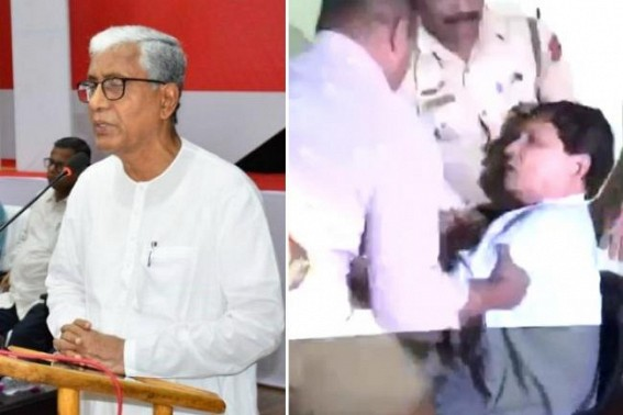'Ribbon cutting BJP Govt standing on Left Govt's land ; Filthy stories against Badal Chowdhury is to repair BJP's dirty face exposed to public' : Manik Sarkar