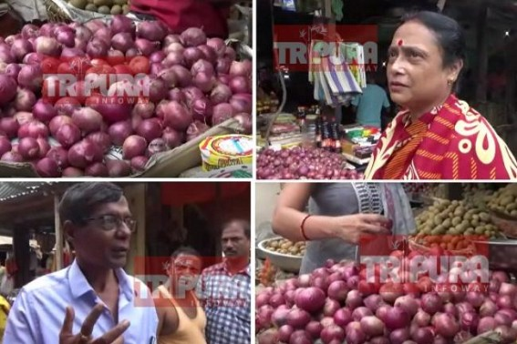 Onion's highest price of season worries people : Rs. 80 onion per kilo recorded today in Agartala markets, Rs. 100 in semi-urban areas