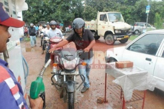 Petrol price about to touch Rs. 74 in Tripura