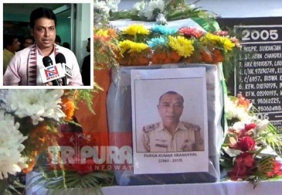11 days of Police Officer Durga Chandra Hrangkhawal murder incident by Drug Smugglers : Chief Minister Biplab Deb fails to visit Victim's family