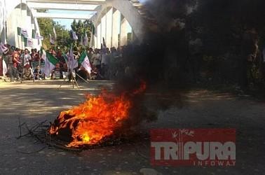 INPT protest against CAB in Tripura. TIWN Pic Dec 5