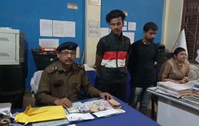 Drug smugglers arrested by Police in Teliamura. TIWN Pic Dec 5