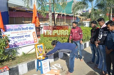 ABVP paid tribute to Father of Indian Constitution Dr. B.R. Ambedkar on his death anniversary. TIWN Pic Dec 6
