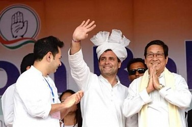 Rahul Gandhi visited Tripura, held massive rally at Khumulwng. TIWN Pic March 20