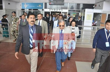 15th Finance Commission team arrives in Agartala. TIWN Pic Jan 16