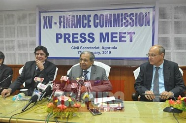 Finance Commission held press meet at Agartala. TIWN Pic Jan 17