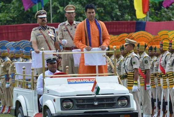 73rd I-Day : Tripura CM promised State to develop Transport system from Airways to Waterways, 'MBB Airport's new terminal by 2020 January'