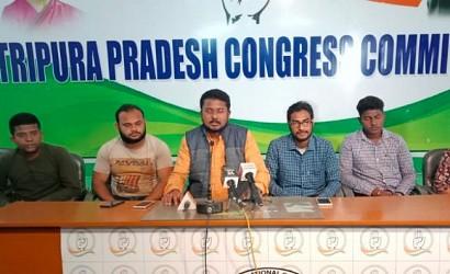 NSUI held press meet at Congress Bhawan. TIWN Pic Dec 5