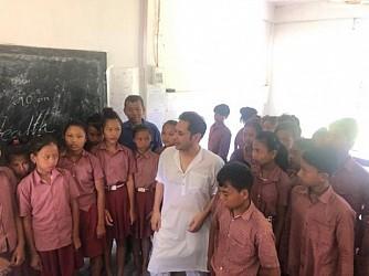 Congress State President Pradyot Manikya visited Ratan Roaza Para High School . TIWN Pic June 19