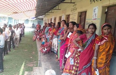Election held for East Tripura constituency. TIWN Pic April 23