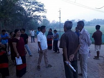 Voters going in group to secure their voting rights at Belonia (South Tripura). TIWN Pic April 23