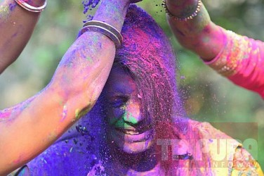 Holi-festival celebration in Agartala. TIWN Pic March 20
