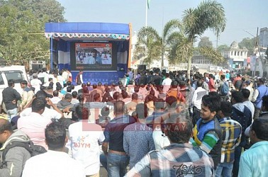 BJP Yuva Morcha launched campaigning for Tripura Lok Sabha election. TIWN Pic Jan 17