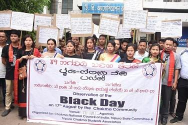 Chakma Community observes Black day. TIWN Pic Aug 17