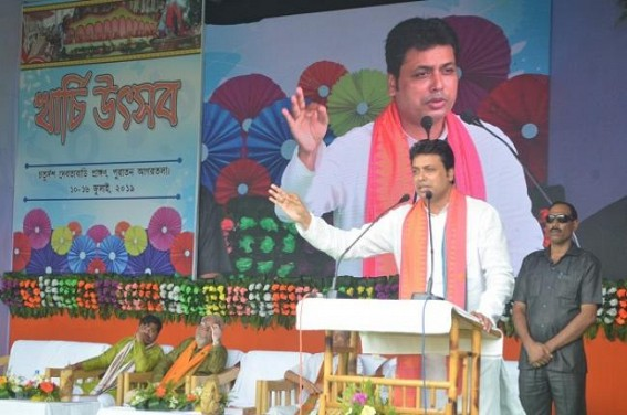 'I will not fight any Election, if CPI-M can cite a single example of State Govt led big scheme like BJP's water-supply scheme' : Tripura CM