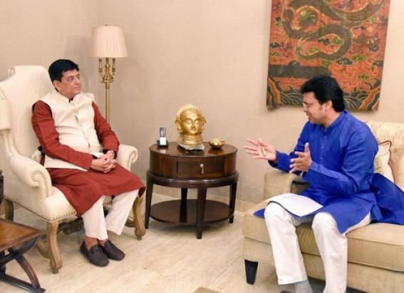 Tripura proposed to set up Special Economic Zone (SEZ) in Sabroom, CM Biplab Deb met Union Railways & Commerce Minister Piyush Goyal