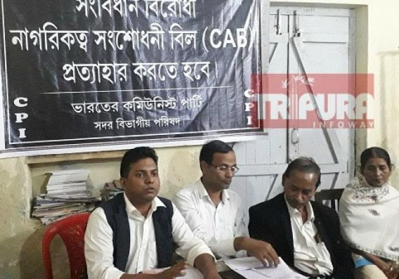 CPI opposed CAB, accused Modi Govt for diverting issue from Economic disorders under BJP