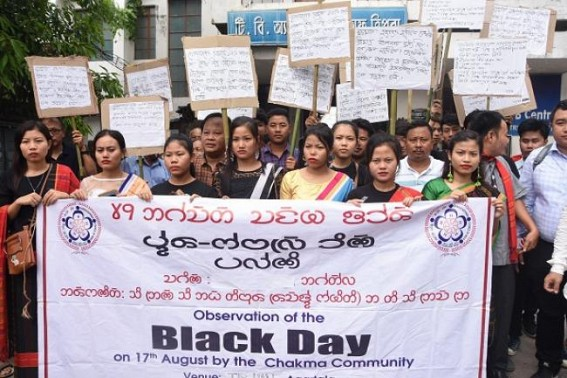 Chakma Community observes Black day