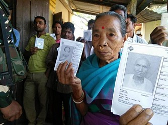 East Tripura poll held. TIWN Pic April 23