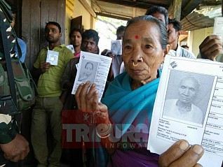 Over 79% voting in incident-free Tripura LS poll