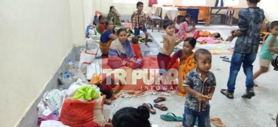 Glimpses of Agartala relief camps. TIWN Pic July 15