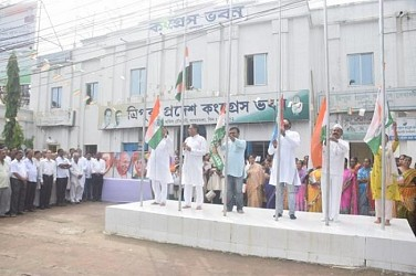 Congress observed I-Day in Agartala. TIWN Pic Aug 15