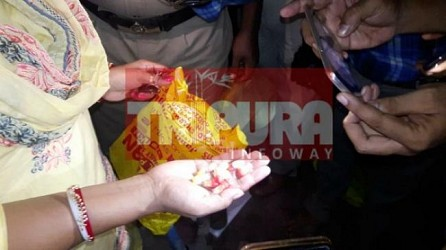 Dharmanagar police seized contraband items worth 50 lakhs seized. TIWN Pic Aug 17