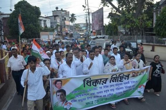 Congress's massive protest rally in Agartala. TIWN Pic Sep 9