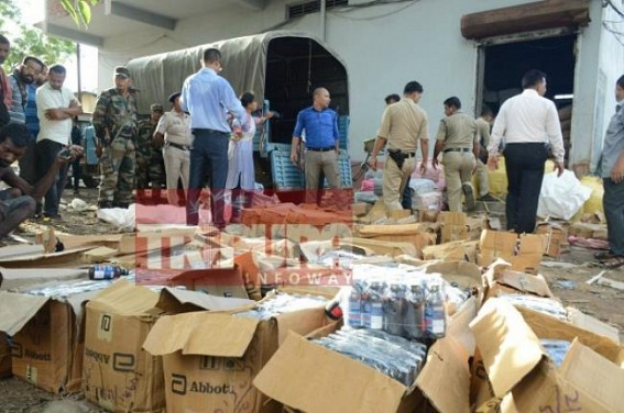 Phensedyl bottles seized from a godown in Sidhhi Asram. TIWN Pic Sep 9