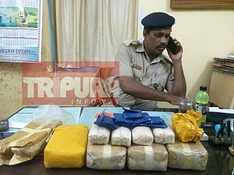 Sonamura based smuggler Abul Hassan arrested by AD Nagar police. TIWN Pic Sep 22
