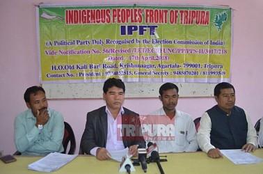 IPFT held press meet at Agartala Press Club. TIWN Pic Dec 7