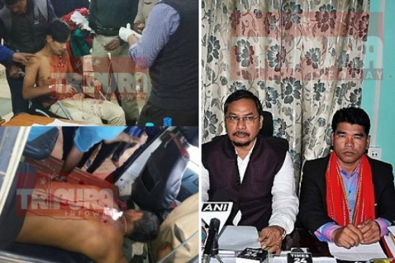 BJP-IPFT Govt claims 'FREE(?) Medical Treatment to Police Firing Victims' ! No condemnation of SP West : NC Debbarma, Mebar Jamatia accused of bootlicking BJP, ignoring Tiprasa suffering