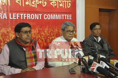 Left parties held press meet at Melarmath Party Office. TIWN Pic Jan 16