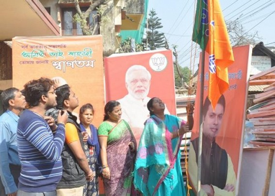 Beneficiaries of Govt schemes have to hoist BJP flags in houses till Lok Sabha Election
